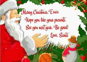 Christmas Morning Letter from Santa Claus